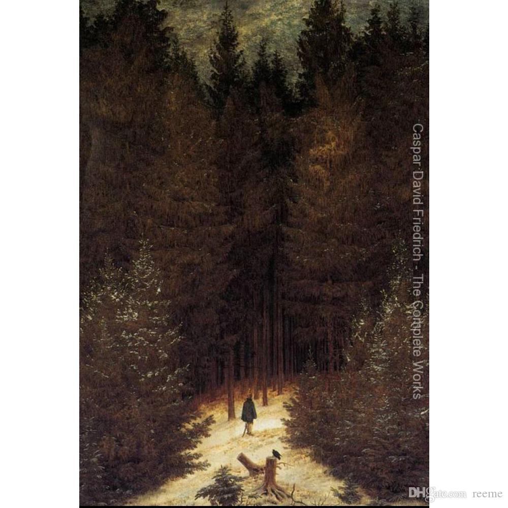 2021 Canvas Art Oil Paintings Caspar David Friedrich The Cemetery Gate Winter Landscapes Picture For Wall From Reeme 103 84 Dhgate Com