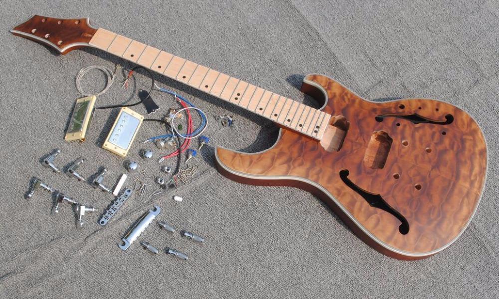 tüm parçalarıyla Yeni marka özel elektro gitar