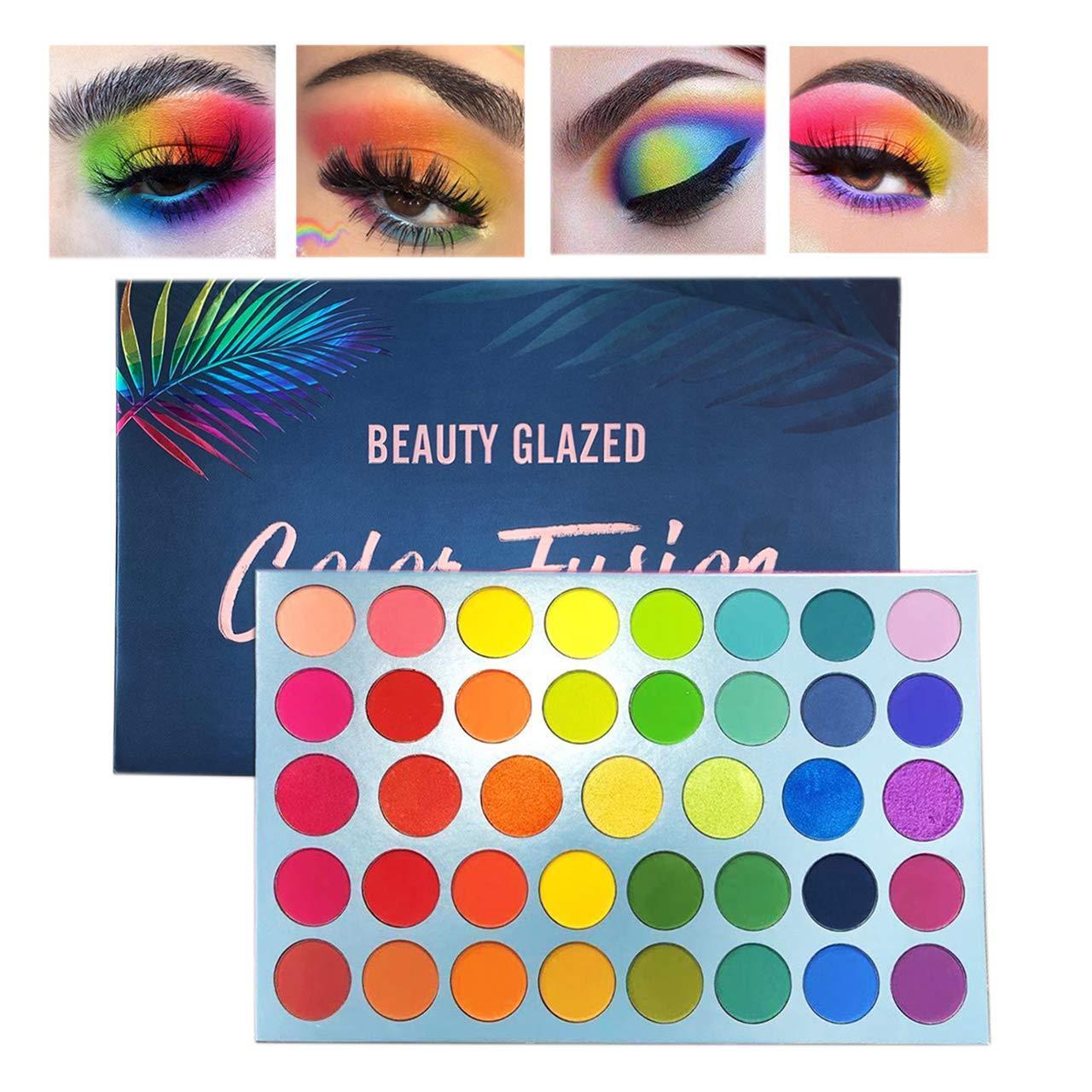 Güzellik Camlı Profesyonel 39 Renk Makyaj Mat Metalik Flaş Göz Farı Paleti - Ultra Renk Parlak ve Parlak Renk Göz Farı