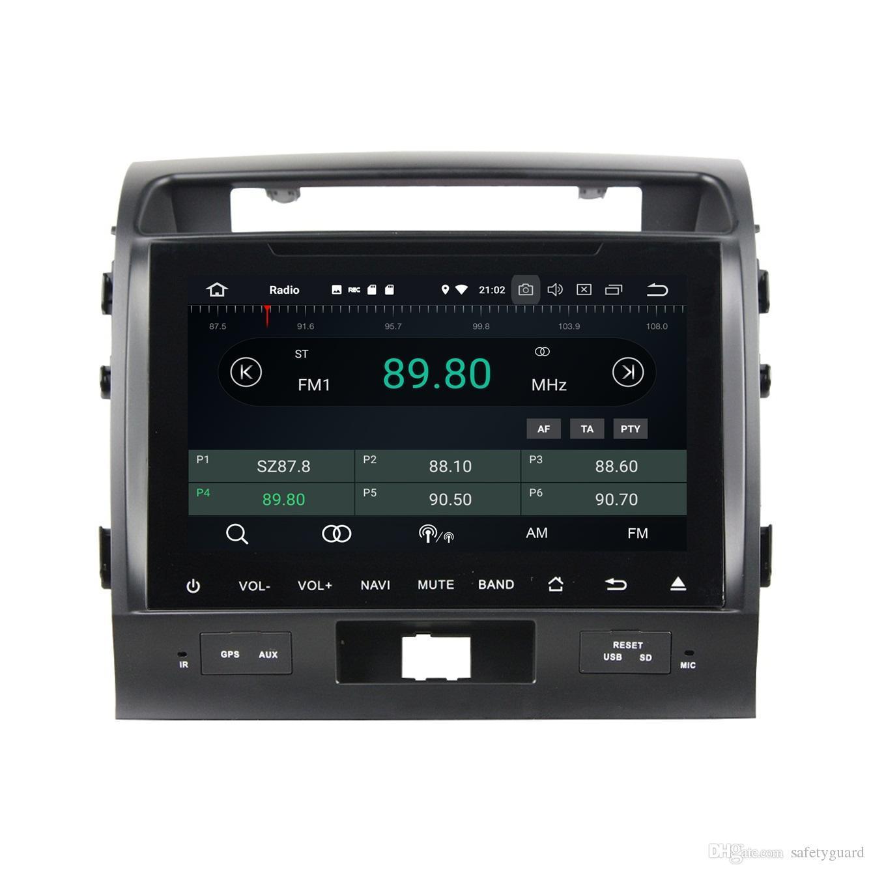 "Full screen Android 8.0 Octa Core 9"" Car DVD GPS for Toyota Land Cruiser 2008 2009 2010 2011 2012 Radio Bluetooth WIFI USB 4GB+32GB"