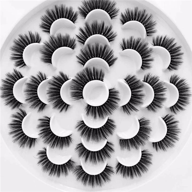 C series new product luxurious handmake 3D mink flower tray eyelashes book 13 pairs of torus thickened thick and long false eyelashes