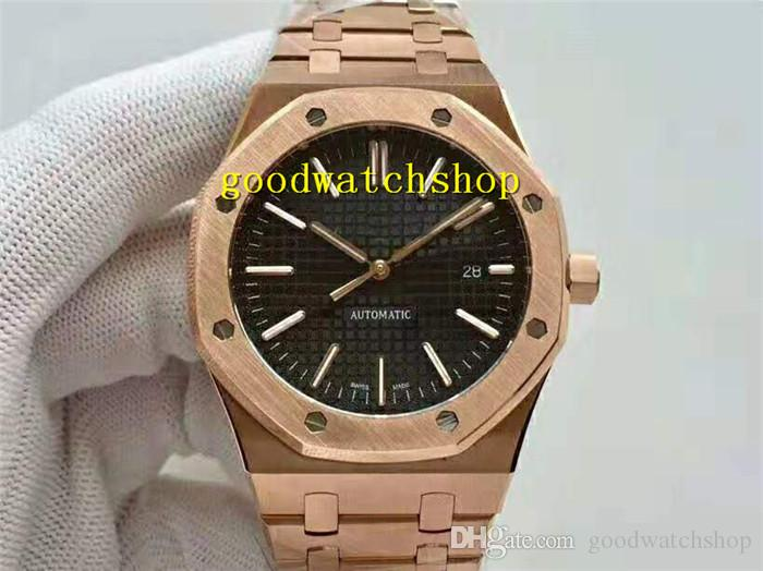 JF ROYAL OAK 15400 Designer Herren-Uhr-Armbanduhr Swiss 3120 Automatische 28800 vph Sapphire Rose Gold 316L Stahl Tapsisserie Dial Wasserdicht
