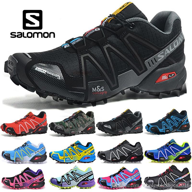outlet store sale official photos new concept 2019 2019 Salomon Speedcross 3 CS Running Shoes Men Women Walking Speed  Cross Mens Sport Sneakers III Athletic Hiking Size 36 46 From ...