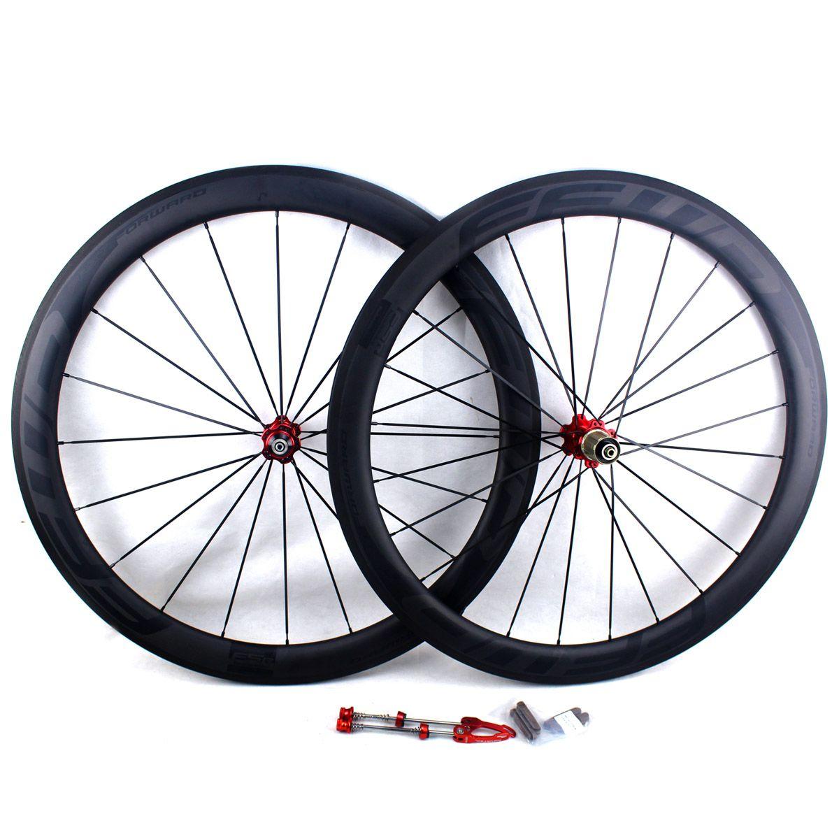 탄소 섬유 자전거 도로 바퀴 50mm FFWD F5R BOB 현무암 브레이크 표면 clincher 관 모양의 도로 자전거 경주 wheelset 테두리 폭 25mm UD 매트
