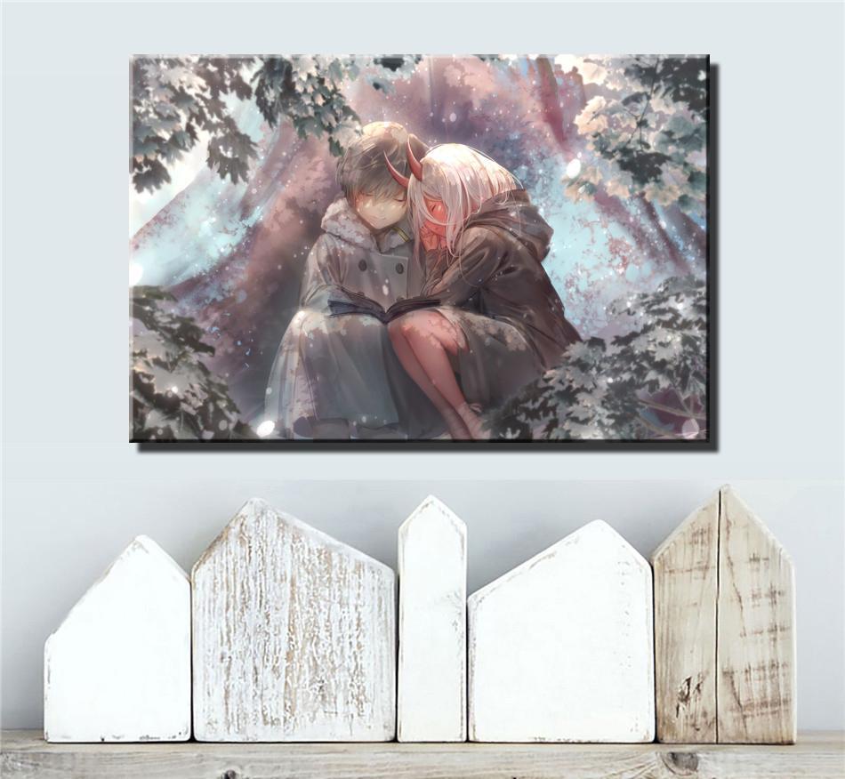 Caro Nel Franxx, pittura decorazione domestica HD Stampato arte moderna su tela di canapa, 1 Pezzi (Unframed / Framed)