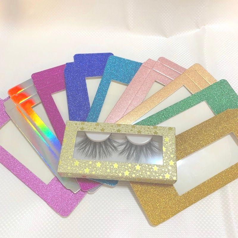 15 estilos Mink 3D cílios Pacote Caixas cílios postiços embalagem caixa de cílios vazios do papel Caso Lashes caixa de embalagem 50 conjuntos