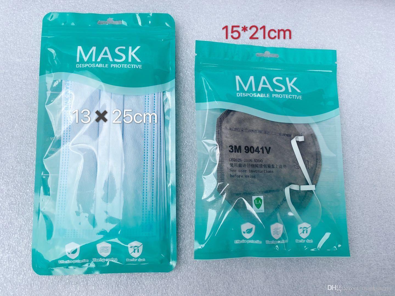 في المخزون شحن مجاني فقط حقيبة التعبئة والتغليف يمكن التخلص منها قناع الوجه حقيبة التعبئة والتغليف قناع الفردية حزمة الوجه الوجه قناع 3 أنماط