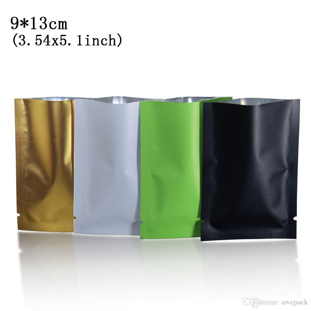 9 * 13cm Aprire toped guarnizione termica vuoto opaco mylar alluminio imballaggio del sacchetto fermento polvere sacchetti di immagazzinaggio 200pcs / lot
