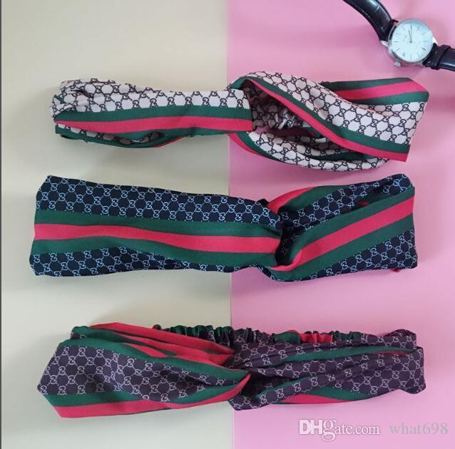 2020 Design-elastisches Stirnband für Frauen Art und Weise Hairband für Frauen-Mädchen-Retro Turban Headwraps Geschenke 3 Farbe G282