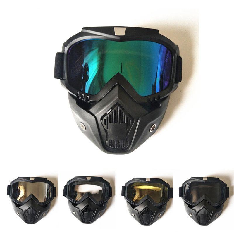 الشتاء الرياضة تزلج حملق قناع الوجه إزالة الغبار التنفس الترشيح ركوب التزلج موتوكروس نظارات الجليد نظارات الثلوج