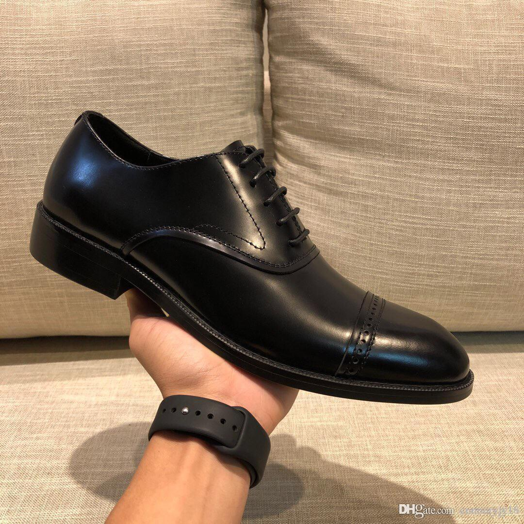 40 style men genuine leather business shoes 3 colors luxury design high quality casual and business comfortable breathable 38-45