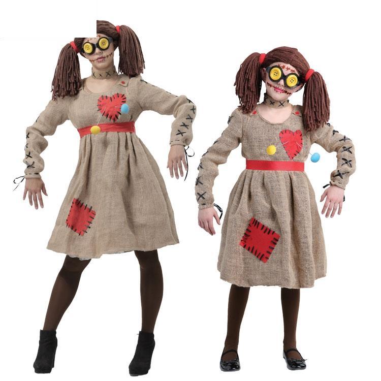 IREK Halloween Costume Linen Scarecrow Voodoo Dolls Cosplay Costume German Festival Clothing Facotry Direct