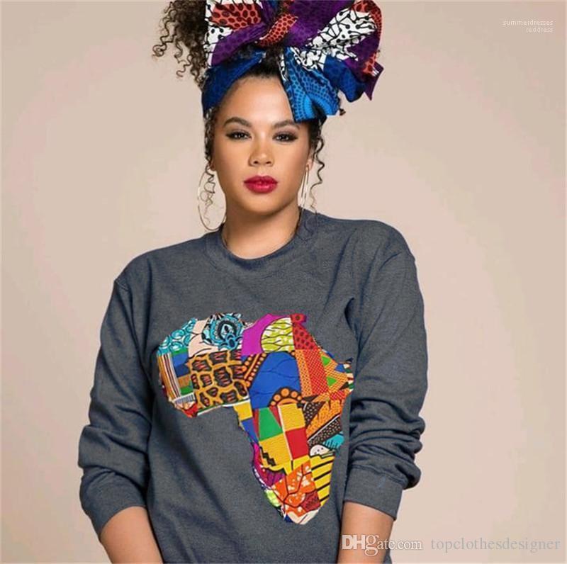 Mode Pullover mit Rundhalsausschnitt Langarm Frauen Sweatshirts beiläufige Frauen Kleidung Mulit Farbe drucken Womens Designer Sweatshirts