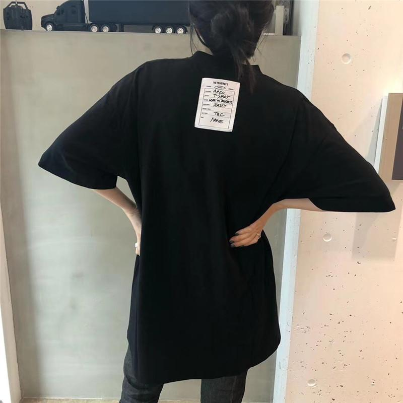 camisa Vetements t tag Homens Mulheres Big alta qualidade do bordado VTM Tees soltos Hip-Hop Casual Cotton Vetements camisetas