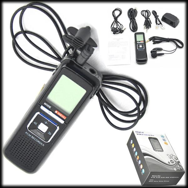 by DHL or EMS 10 pcs PRO 4GB 650Hr USB Rechargeable Digital Audio VOR WAV LCD Voice Activated Recorder Dictaphone For MP3