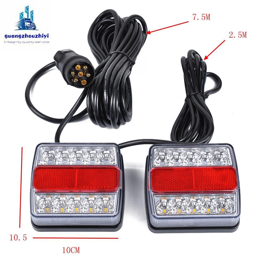 26LED 12V مقطورة أضواء كيت 12V للماء LED مقطورة أضواء مؤشر / ضوء الذيل مع 7 دبوس التوصيل