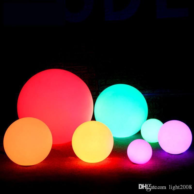 Recarregável LED Bola Night Light IP65 impermeável ao ar livre piscina bar lâmpada bola mesa 7 cores RGB Floating Remote Control
