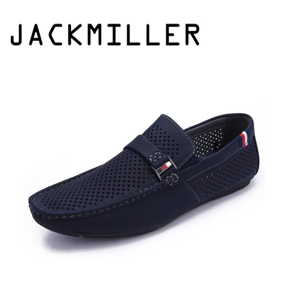 Jackmiller Top Brand Spring Summer Men's Casual Shoes Slip On Super Light Soft Breathable Men's Flats Navy Sneakers Fashionable