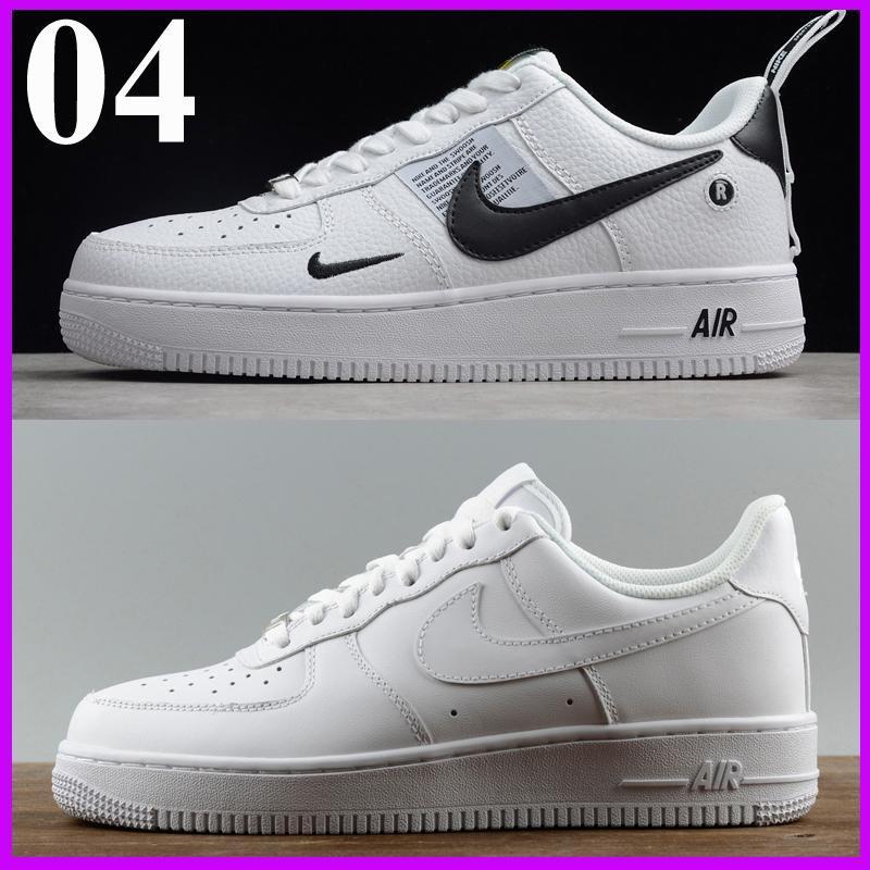 Nuevas zapatillas de deporte del diseñador de moda, hombres, mujeres airlis AF1 zapatos de todas las fuerzas negras blancas 1 una buena venta bajo alta deportiva en línea