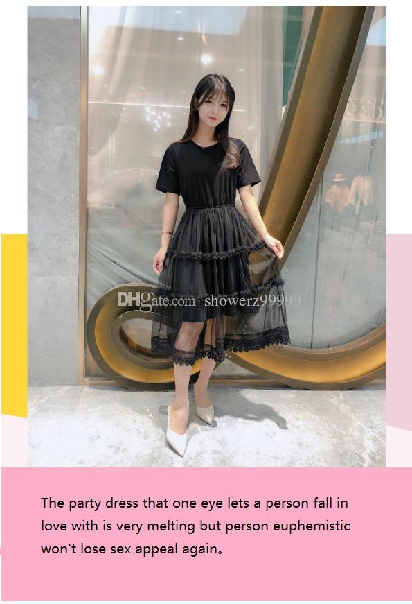 2019 hermosa niña vestido de fiesta de verano para las mujeres sexy estilo de las señoras de moda simple dulce dulce solo envío gratuito