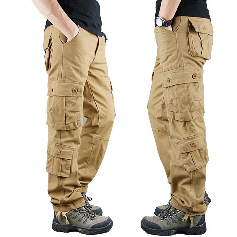 Compre 2020 Primavera Para Hombre Pantalones De Carga De Color Caqui Militar Hombres Pantalones Casuales De Algodon Pantalones Tacticos De Los Hombres De Gran Tamano Del Ejercito Pantalon Militaire Homme T200417 A