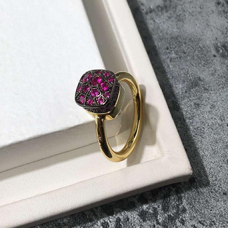 2018 Luxury femmina di cristallo dono CZ anello di pietra Bianco Blu Viola Verde Fedi promessa anello di fidanzamento di Natale