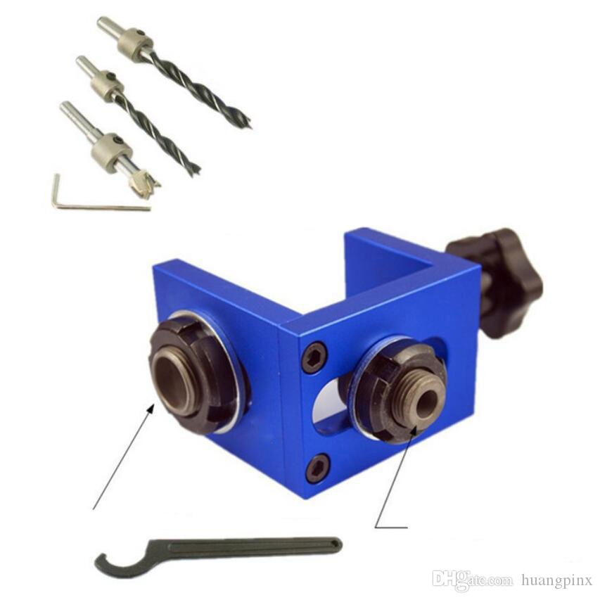 Mini Pocket Hole Jig Drill Guide Kit Wood Doweling Joint Woodworking Carpentry Locator Tool