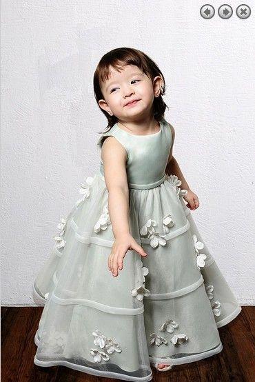 Livraison gratuite 2020 style nouveau Organza filles de robes de soirée mariage robe de princesse belles Pageant fille Robes fille fleur
