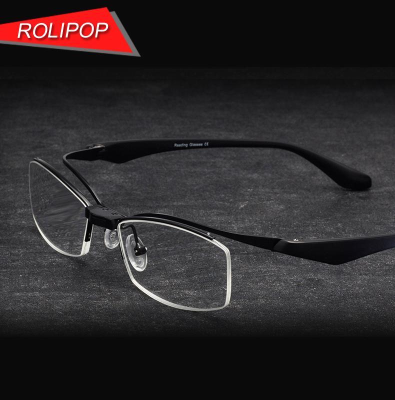 lecteurs demi-cadre des lunettes de lecture flipup lunettes hommes loupe TR90 prescription
