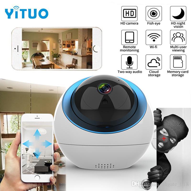 قبة كاميرا IP لاسلكية داخلية 1MP 720P الرئيسية PTZ كاميرات مراقبة كاميرا واي فاي كامارا CCTV للواي فاي الخارجي
