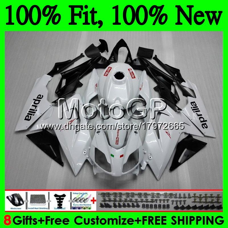Injection for Aprilia RS4 RSV125 06 07 08 09 10 11 RS-125 0GP12 RS 125 R RS125 2006 2007 2008 2009 2010 2011 Fairing Bodywork Pearl White