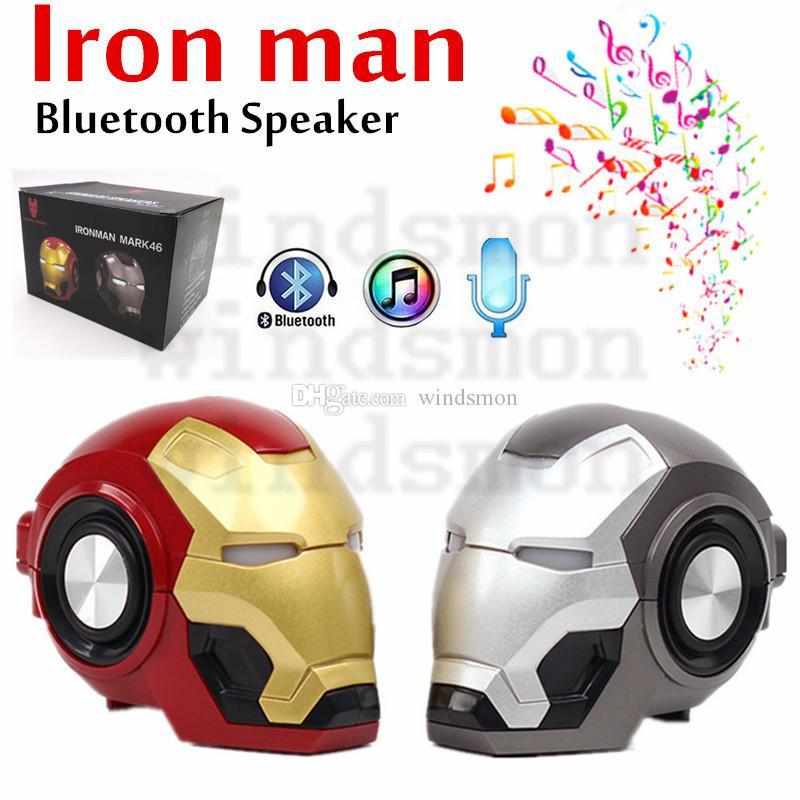 2020 NEW Gute Iron Man Bluetooth Speaker Ironman Christmas Kid Gift Speakers LED Flashing Light Boombox MP3 Music Mini Portable Speakers