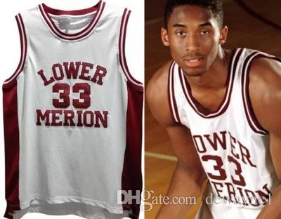 Discount Mens Vintage 33 Kobe Bryant Lower Merion High School ...