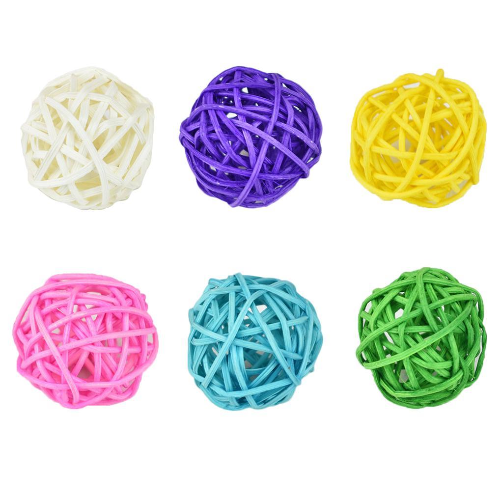 10PCS Bunte Rattan-Kugel DIY verziert Weihnachts Geburtstag Hochzeit Dekorationen Kinder Spielzeug zufällige Farbe
