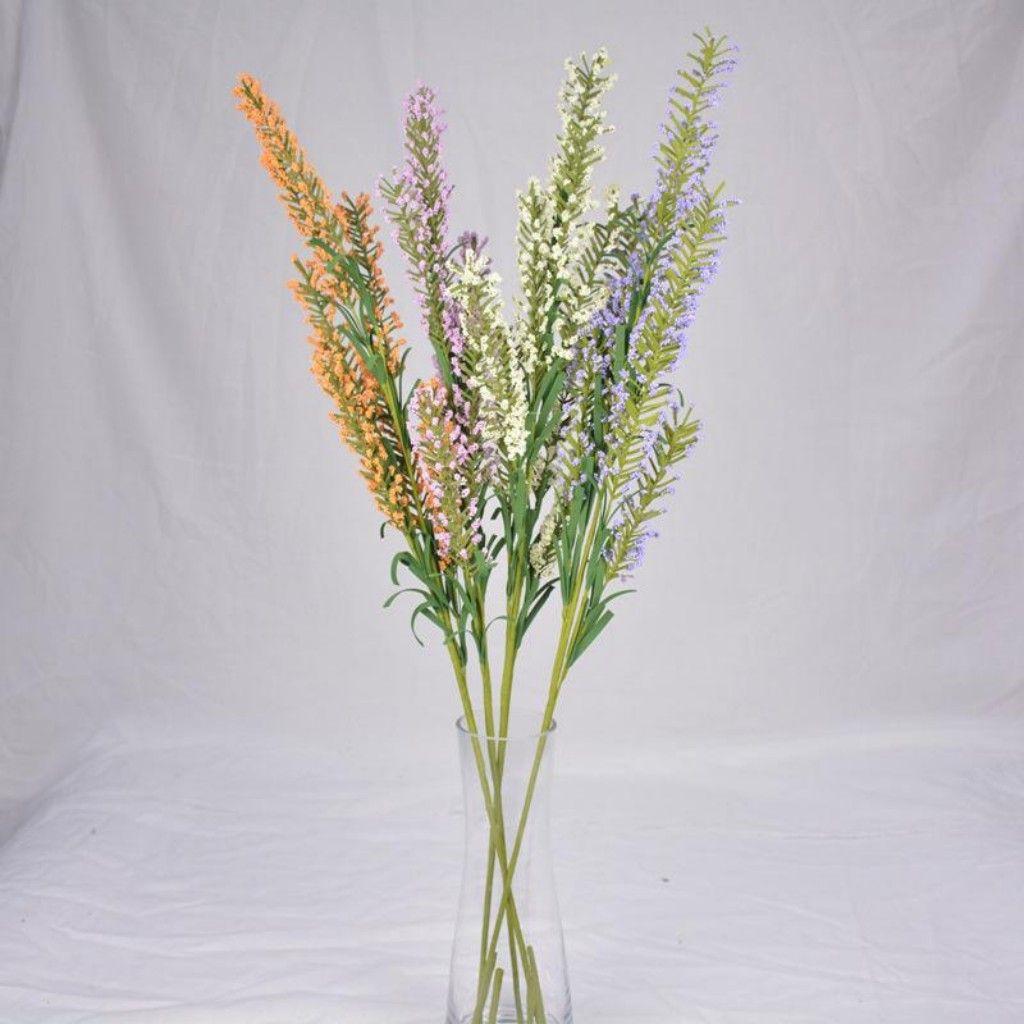Mor Turuncu Lavanta Yapay Çiçekler Manuel Restoran Yatak Masa Ekran Düğün Romantik Sahte Çiçek Moda Ev Dekorasyonu