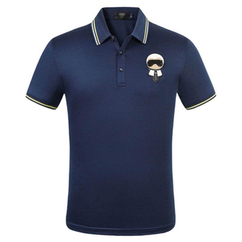 Designer Herren Polos Sommer Luxus Polos für Männer weichen T-Shirts Striped Neck Marke beiläufiges Mens feste Kleidung M-3XL5