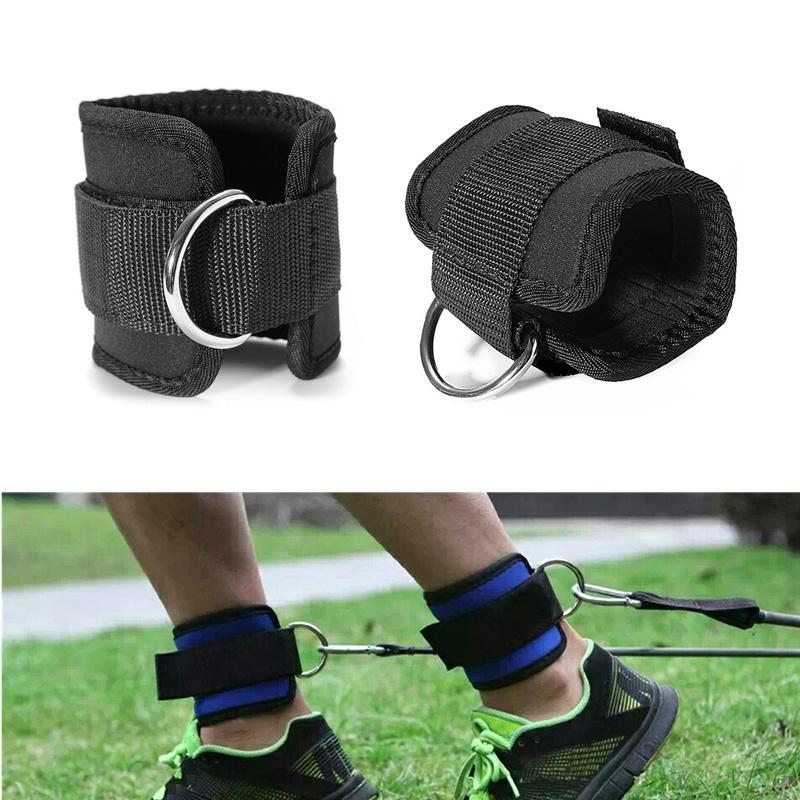 1 Pair Fitness Exercise Resistance Band Ankle Straps Cuff Leg Glute Equipment.UK