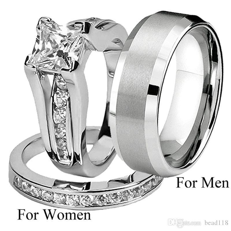 10шт / много Горячая комбинация продажа Пара Кольца европейских и американских моды для мужчин и женщин обручальные обручальное кольцо
