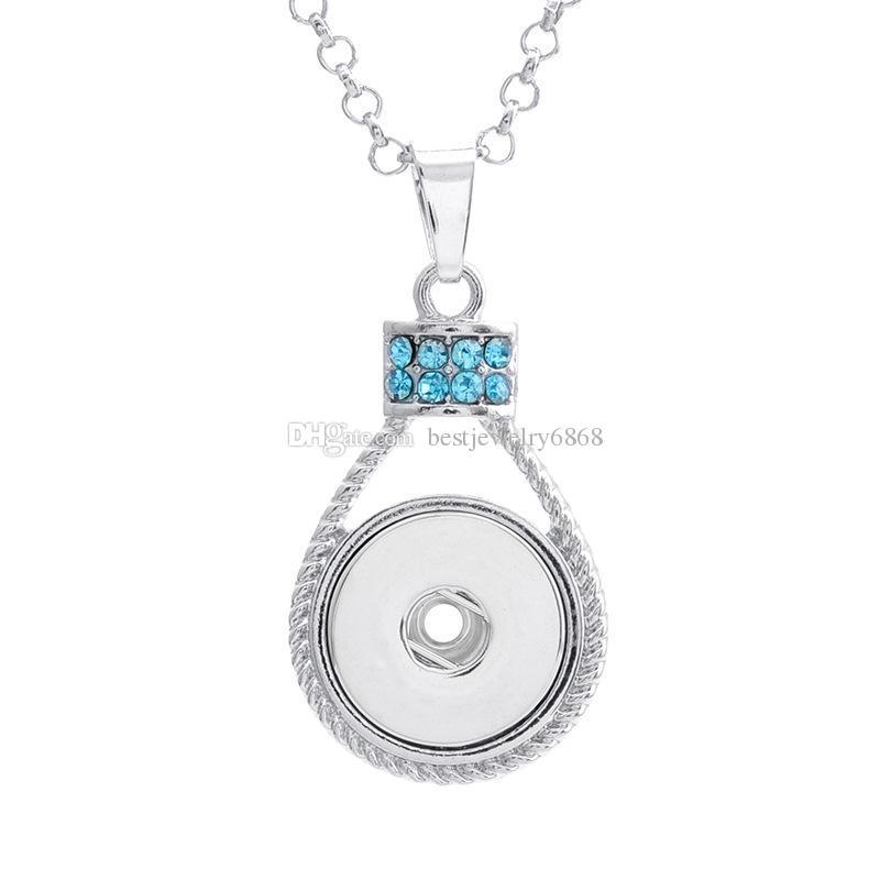 Botón de 18 mm NOOSA Joyas de jengibre Snap Encantos intercambiables Joyas de cristal Collar 3 Colores No Incluye