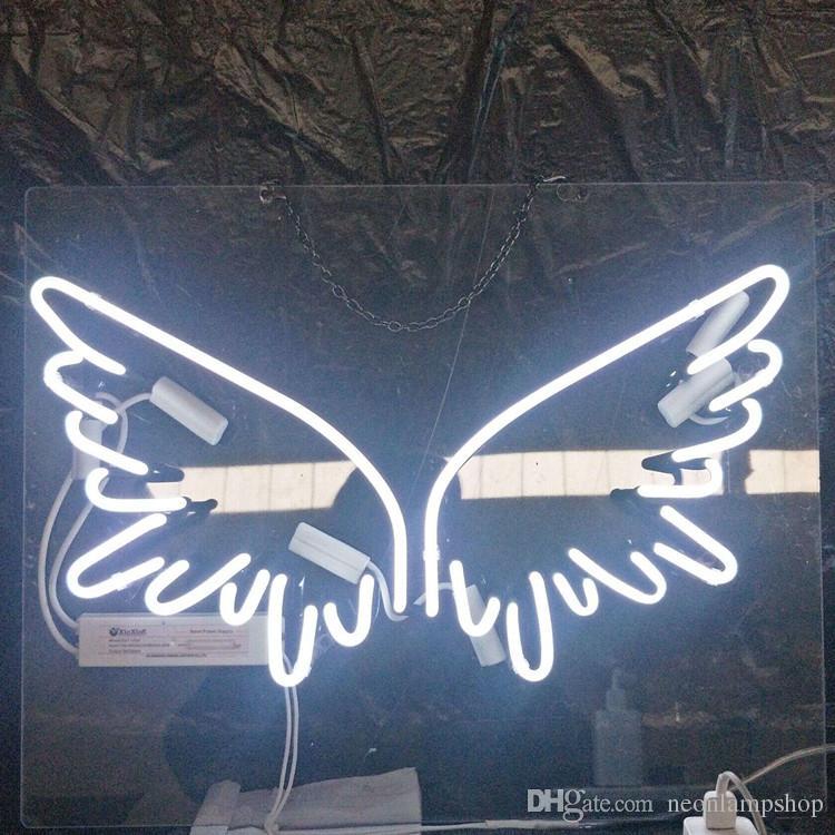 Papillon personnalisé Enseigne Au Néon Lumière Bière En Plein Air Partie De La Publicité Divertissement De Publicité En Verre Neon Lampe Lumière En Métal Cadre 17 '' 20 '' 24 '' 30 ''