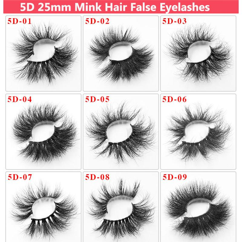 25 Mm Thick Mink Lashes 3d Mink Eyelashes Cruelty-Free Soft Real 25mm Lashes Mink Hair False Eyelashes Extension Lashes Strips