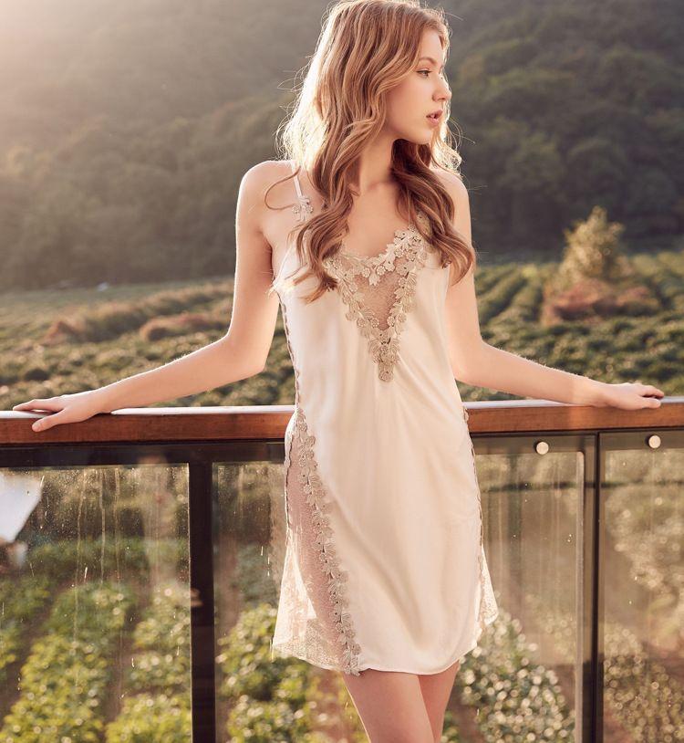 섹시한 잠옷 세트 레이스 잠옷 여성 캐주얼 홈 착용 새틴 기모노 가운 가운 신부 들러리 웨딩 가운 잠옷