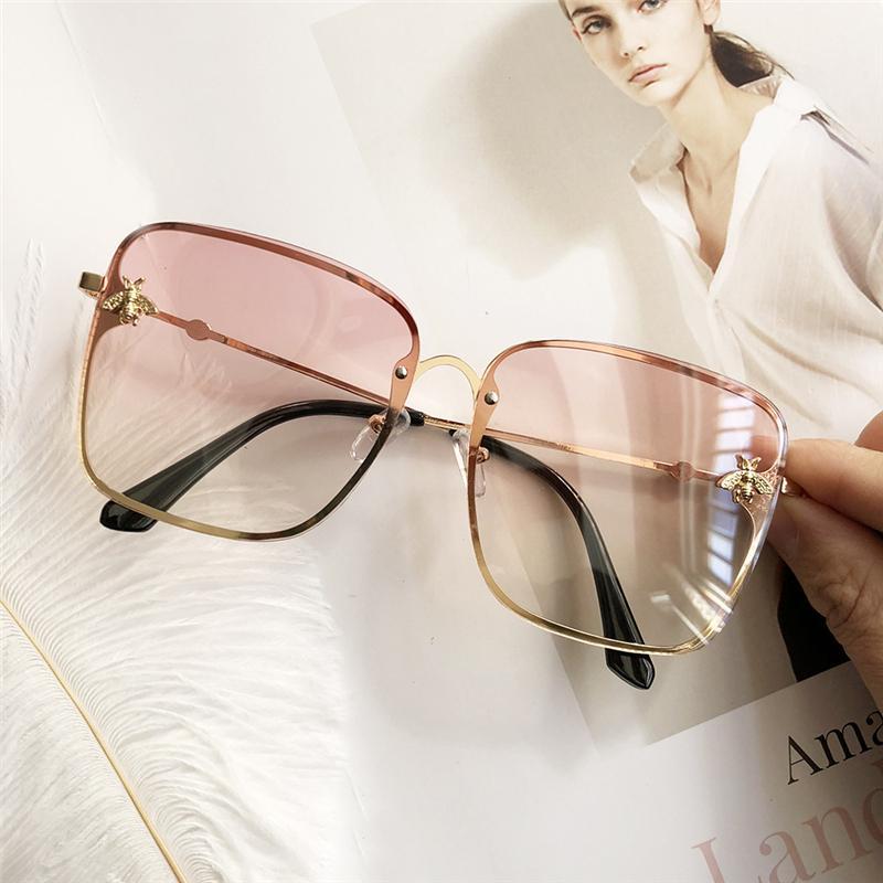 2020 новая коробка дамы солнцезащитные очки UV400 металлический каркас небольшой пчела очки классический дизайн бренда спортивного вождения солнцезащитные очки