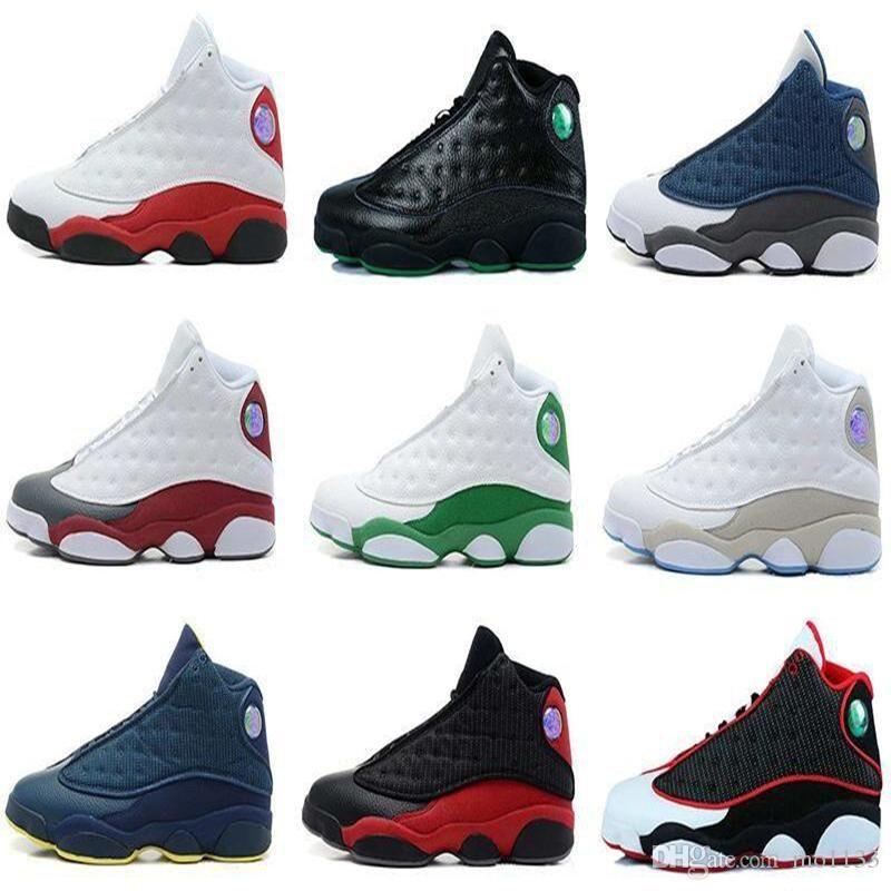 13 13s mens basketball shoes 3M GS Hyper Royal Italy Blue Bordeaux Flints Chicago Bred DMP Wheat Olive Ivory Black Cat Men sports sneakers