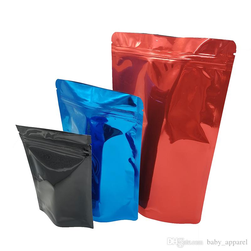 Stand up Pouch Packaging alluminio della chiusura lampo sacchetti richiudibili Fiore dell'odore Proof Bag Zip bloccare vuoto OEM / ODM benvenuto 510 cartucce di olio di imballaggio