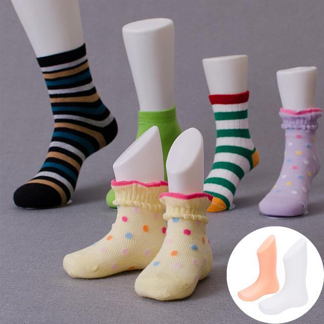 Accueil Jardin Enfants Pied Chaussettes Mold Chaussures Pieds affichage court Bas Modeling Mannequin Accueil bricolage Fournitures Accessoires