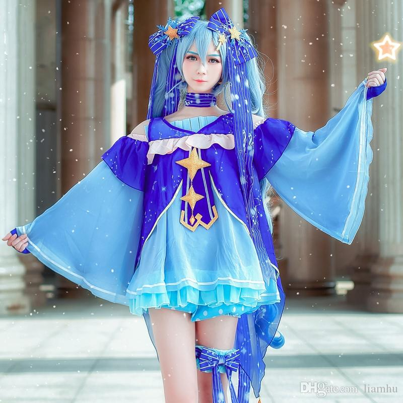 Hatsune Miku Fancy Dress JK Uniform Cosplay Full Set Costume Tops Women Anime