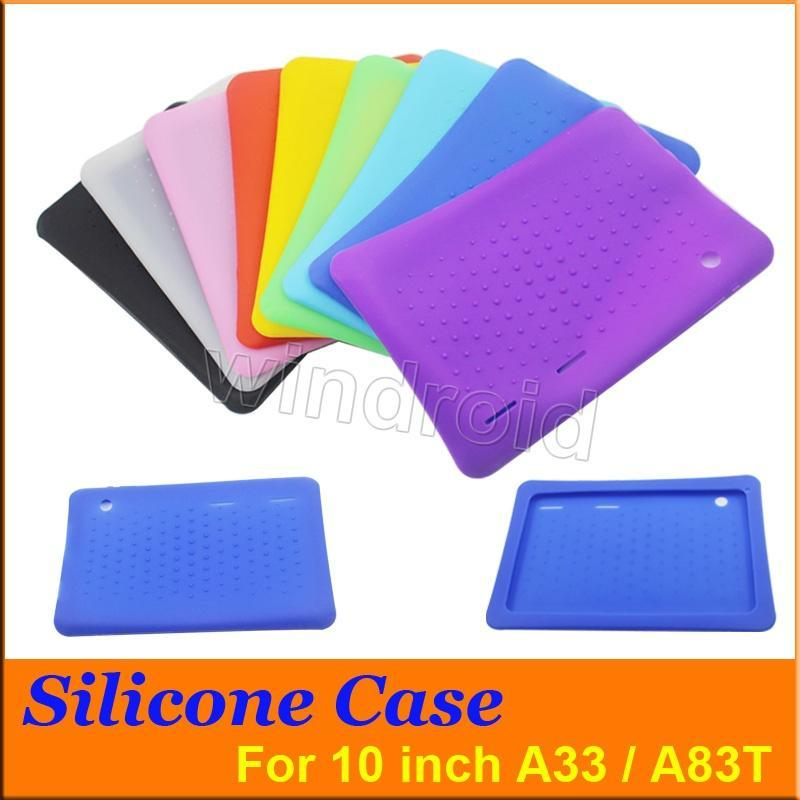 Cheapest 50pcs Anti Dust Kids Child Soft Silicone Rubber Gel Case Cover For 10 10.1 Inch A83T A33 A31S Android Tablet pc MID Free DHL