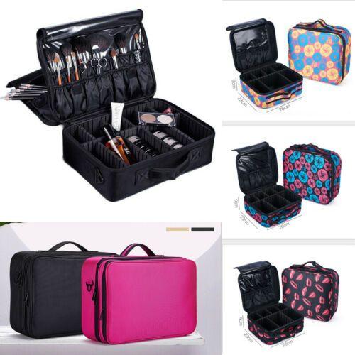 Professional Large Makeup Bag Cosmetic Case Nail Tech Storage Handle Organizer Travel Kit Functional Beauty Box 2019 Hot Sale