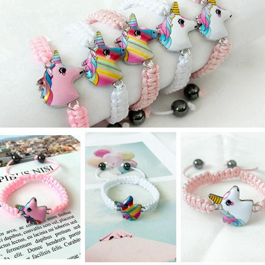 Unicorn lavoro a maglia 5 stili per bambini Animali Accessori estate del fumetto catena gioiello regali per i bambini RRA2263